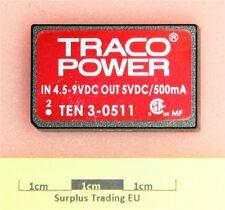 TRACO TEN 3-0511 Regulated DC-DC Converter 5V 500mA