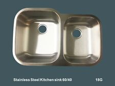 """Stainless Steel Kitchen sink 60/40 Under-mount Double 32"""" x 20-3/4 x 9""""/7"""" Sm503"""