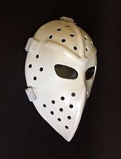 Vintage Fiberglass Hockey Goalie Halloween white Mask