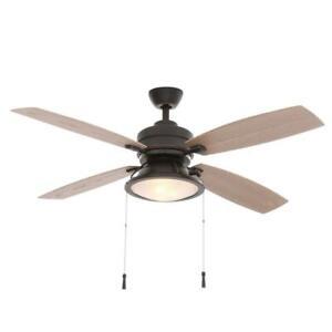 Hampton Bay Kodiak 52 in. Indoor/Outdoor Dark Restoration Bronze Ceiling Fan
