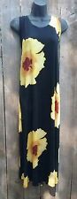 Jostar big hibiscus no iron travel fabric tank dress yellow XXXL
