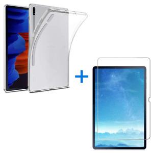 Samsung Galaxy Tab S7 Plus 12.4 T970 T975 Schutz Hülle + Panzerfolie Hart-Glas
