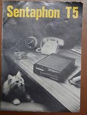 Istruzioni per l uso segreteria telefonica SENTAPHON T5 italiano tedesco inglese