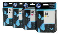 HP 88 Black & Colors Ink Cartridge Combo C9385AN-86AN-87AN C9388AN Genuine New