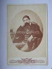 CASTELLANI Alessandria uomo barba old photo vecchia foto cartonata cabinet