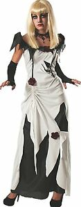 Enchanting Creeping Beauty white Black Costume Rubies Women's Scary Tales Adult