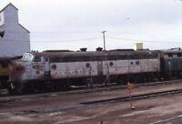 BURLINGTON Railroad Streamliner Locomotive HAVRE MT Original 1972 Photo Slide