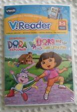 """V Tech, V.Reader """"Dora the Explorer, 3 little pigs, New/Sealed Ages 3-5"""
