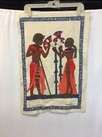 "VINTAGE Tapestry Wall Art Egyptian Tessilca 24""x16.5"""