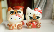 A Pairs Hello Kitty X Monster Hunter Painting Ceramics Coin Bank Money Box 5.9""