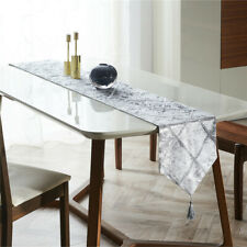 Fashion Diamond Shaped Stripes Table Runners Cloth with Tassels Dining