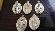 5x Virgin Mary charms Catholic Saint charm Vatican City medal medallion