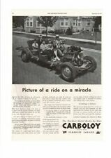 VINTAGE 1945 CARBOLOY CEMENTED CARBIDE MIRACLE RIDE FAMILY INDUSTRY AD PRINT