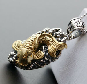 B06 Pendant Fish Gold Plated Sterling Silver 925