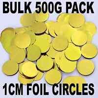 BULK CONFETTI GOLD Metallic 1cm Wedding / Balloons Round Circles 500 Gram Pack