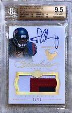 2014 PANINI FLAWLESS GOLD AUTO PATCH /10 JADEVEON CLOWNEY RC BGS 9.5/10 BEAUTY