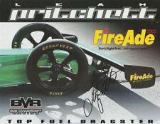 "2016 Leah Pritchett signed FireAde 2000 ""1st Version"" Top Fuel NHRA postcard"