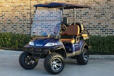 New 2021 Blue Advanced EV 48V Electric Golf Cart Lifted 4 Passenger Disc Brakes