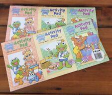 Pair Vtg Jim Henson Muppet Babies 3 Pack Child Kids Activity Pads Coloring Book