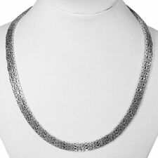 SALE !!! THREE ROW Byzantine COLLAR Necklace 925 Sterling Silver 17 Inch  67 gms
