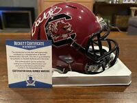 Deebo Samuel Autographed South Carolina Gamecocks Maroon Mini Helmet Beckett