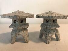 "New listing Miniature Japanese Lanterns Japanese Bonsai Garden Ornaments 2-1/4"" x 3""Lot 2"