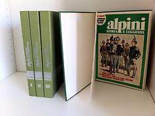 ALPINI STORIA E LEGGENDA 1-3 + VOL. CON COPERTINE E CARTOLINE TOT. 4 VOL. LOTTO
