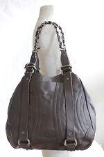 BLANK FLOW DESIGNER TOTE Premium Brown Leather Shoulder Handbag