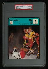 PSA 8 THE EQUIPMENT 1978 Sportscaster Hockey Card #21-12 ITALY