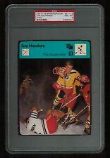 PSA 8 THE EQUIPMENT 1978 Sportscaster Hockey Card #21-12 ITALY