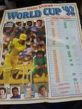 circa 1992 Cricket: World Cup 1992, The Sunday Telegraph World Cup Large Fixture
