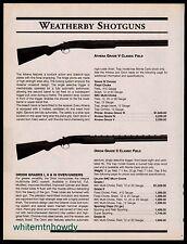 2000 WEATHERBY Athena Grade V and Orion Grade II Classic Field,  Shotgun AD