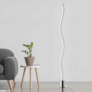 Design LED Steh Leuchte chrom Wohn Zimmer Beleuchtung Stand Lampe geschwungen