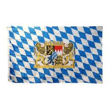 Bayern Fahne Flagge 60x90cm Freistaat Bayern Löwe mit Wappen mit Ösen Bayrische