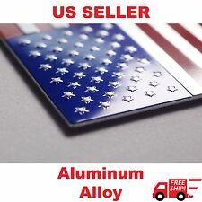 "3D Aluminum US American Flag Sticker Decal | Auto Car Bike Emblem | 3.15""x1.75"""