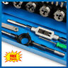 32pc Metric Wrench Tap And Die Set Cuts M3-M12 Bolts Hard Case Engineers Kit