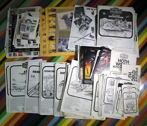 vtg 1980s ESB Star Wars ephemera - toy instruction manuals, stickers, insert