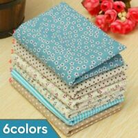 6Pcs/set Cotton Floral Fabric Vintage Roses Dress Craft Material Sold Per Meter