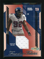 MICHAEL STRAHAN 2003 SCORE FRANCHISE FABRICS GAME USED JERSEY #152/250 AG3618