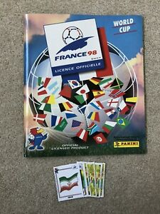 PANINI France 1998 World Cup Album Complete Apart From Iran - Superb
