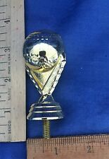 "Baseball Gold Plastic Trophy Topper - 3 1/4"" Tall"