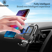 Baseus Qi Wireless Fast Charge Intelligent Infrared Sensor Auto Lock Car Mount