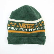 """Vans Beanie """"Only For The Elite"""" Green Soft Knit Skateboard"""