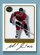 MICHEL GOULET 2001 FLEER GREATS OF THE GAME SIGNATURE AUTOGRAPH AUTO