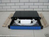 Fiber Optic Patch Panel,Enclosure,1U,Rackmount,24 Port Loaded SC Duplex-94321