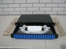 Fiber Optic Patch Panel,Enclosure,1U,Rackmount,24 Port Loaded SC Duplex