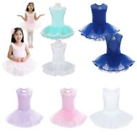 Girls Ballet Tutu Dress Dancewear Ballerina Costume Kids Leotard Skate Skirt