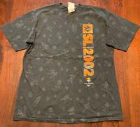 2002 Salt Lake City Winter Olympics Black Graphic Tshirt, Sz L