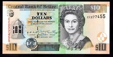 Belize. Ten Dollars, CC 277455. January 2001, Almost Uncirculated.