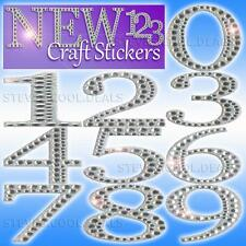 STICKERS BIRTHDAY AGE NUMBERS 5cm Large Diamond Glitter Wedding Date Door Bling